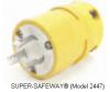 Locking Plug Yellow 30A 480V 3+ 3P -- 78678870434-1