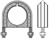 Channel Conduit/Cable Clamp -- PS UB 2-1/2