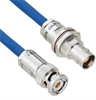 Halogen Free Cable Assembly TRB 3-Slot Plug to Non-Insulated Bulk Head 3-Lug Cable Jack MIL-STD-1553 .242