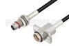 Slide-On BMA Plug Bulkhead to Slide-On BMA Jack 2 Hole Flange Cable 24 Inch Length Using LMR-100 Coax -- PE3C4924-24 -Image