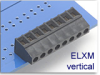 Fixed Terminal Block -- ELXM Vertical SMT Compatible Series -- View Larger Image