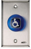 Blue Handicapped Momentary Switch -- 906 - Image