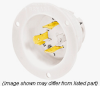 Locking Flanged Inlet Receptacle White 20A 250V 3+ 3P -- 78358503824-1 - Image