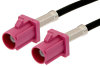 Violet FAKRA Plug to FAKRA Plug Cable 24 Inch Length Using PE-C100-LSZH Coax -- PE38747H-24 -- View Larger Image