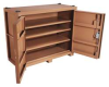 Jobsite Cabinet,2-Door,66 x30x54-1/2,Tan -- 13R509
