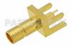 75 Ohm Mini SMB Jack Connector Solder Attachment .062 inch End Launch PCB -- PE44131 -Image