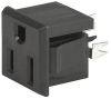 NEMA line Outlet 5-15R, Snap-in Mounting, Front Side, V-Slot Terminal -- 0709-1 -- View Larger Image