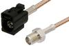 SMA Female to Black FAKRA Jack Cable 24 Inch Length Using RG316 Coax -- PE39351A-24 -Image