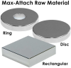Rectangular Rare Earth Raw Magnetic -- Max-Attached™ Polymagnets®
