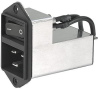 IEC Appliance Inlet C20 with Filter, Line Switch 2-pole