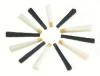 1 set of 6 erasing tips, nylon hair 0.20 mm, white -- B-4917