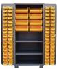 PLASTIC BIN & SHELF CABINET - SOLID DOORS -- HDN236-BL - Image