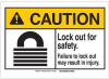 Brady B-401 Plastic Rectangle White Lockout / Tagout Sign - 3.5 in Width x 5 in Height - 144497 -- 754473-98639