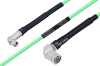 Temperature Conditioned SMA Male Right Angle to TNC Male Right Angle Low Loss Cable 36 Inch Length Using PE-P142LL Coax -- PE3M0155-36 -Image