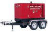 Baldor TS60T - 49kW Industrial Towable Generator w/ Trailer -- Model TS60T