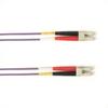 1-m, LC-LC, 50-Micron, Multimode, Plenum, Violet Fiber Optic Cable -- FOCMP50-001M-LCLC-VT - Image
