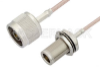 N Male to N Female Bulkhead Cable 60 Inch Length Using RG316 Coax -- PE33534-60 -Image
