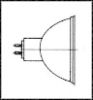 LAMP, HALOGEN, GU5.3, 12V, 50W -- 16F681