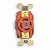 Single Locking Receptacle Orange 30A 250V 3+ 3P -- 78358587244-1 - Image