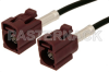 Bordeaux FAKRA Jack to FAKRA Jack Cable 48 Inch Length Using RG174 Coax -- PE38750D-48 -Image