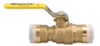 2-Piece, Full Port, Lead Free* Brass Ball Valve with Quick-Connect Technology -- LFFBV-3C-QC