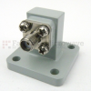 WR-51 to SMA Female Waveguide to Coax Adapter UBR180 Standard with 15 GHz to 22 GHz Ku-K Band in Copper -- SMW51AC