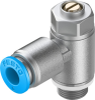 One-way flow control valve -- GRLZ-1/8-QS-6-D -Image