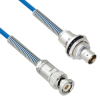 """Plenum Cable Assembly TRB 3-Slot Plug to Insulated Bulk Head 3-Lug Cable Jack with Bend Reliefs MIL-STD-1553 .150"""" O.D. +125C 78 Ohm Twinaxial Shielded twisted pair 6' -- MSA00041-72 -- View Larger Image"""