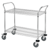 "36in x 18in x 38"" - 2 Shelf- Heavy-Duty Wire Cart -- WSC3618382"