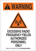 Brady B-302 Polyester Rectangle White Radiation Hazard Sign - 10 in Width x 14 in Height - Laminated - 129317 -- 754473-78387