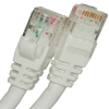 CAT5E 350MHZ ETHERNET PATCH CORD WHITE 7 FT SB -- 26-252-84 -Image