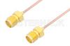 SMA Female to SMA Female Cable 12 Inch Length Using PE-047SR Coax -- PE3758-12 -Image