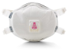 3M Cool Flow 8293 White P100 Molded Cup Particulate Respirator - 051138-54336 -- 051138-54336