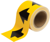 Brady B-946 Black on Yellow Directional Flow Arrow Tape - 4 in Width - 30 yd Length - 91287 -- 754476-91287 - Image