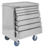 Rolling Cabinet,29 x20 x35,7 Drawers,Stl -- 13R638