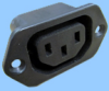 IEC 60320 Sheet F Screw Mount Power Outlet -- 83030610