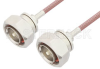 7/16 DIN Male to 7/16 DIN Male Cable 72 Inch Length Using RG142 Coax, RoHS -- PE3189LF-72 -Image