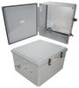 18x16x10 Polycarbonate Weatherproof Outdoor IP66 NEMA 4X Enclosure, 240 VAC Universal Outlet MNT PLT, Mechanical Thermostat Heat DKGY -- TEPC181610-EH0 -Image
