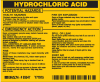 Brady B-928 Black on Yellow Rectangle Vinyl Hazardous Material Label - 4 1/2 in Width - 3 2/4 in Height - Printed Text = HYDROCHLORIC ACID - 93547 -- 754476-93547
