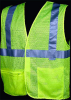 Dicke Safety Vest, ANSI Class 2, Lime, 2XLarge -- V100-2XL