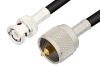 UHF Male to BNC Male Cable 60 Inch Length Using 93 Ohm RG62 Coax -- PE34587LF-60 -Image