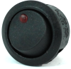 Illuminated Round Rocker Switch 44235, On-Off, SPST, 3 Contacts, Red -- 44235 - Image