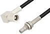 SMB Plug Right Angle to SMB Jack Bulkhead Cable 48 Inch Length Using RG174 Coax, RoHS -- PE33261LF-48 -- View Larger Image
