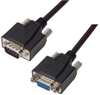Deluxe Molded Black D-Sub Cable, DB9 Male / Female, 15.0 ft -- CSMNB9MF-15 -Image