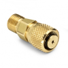 10 mm tube fitting x male Quick-test, no check-valve, brass -- QTHA-MTB0-10mm