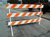 TD2600 Plastic Rail & Angle Steel Type III Barricade -- TD2600 Plastic Rail & Angle Steel Type III Barricade
