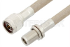 N Male to N Female Bulkhead Cable 60 Inch Length Using RG225 Coax, RoHS -- PE34194LF-60 -Image