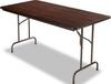 FOLDING TABLE, RECTANGULAR, 60W X 30D X 29H, WALNUT -- 10121523