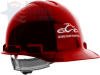 OCC 4-Point Ratchet Suspension Hard Hat Red -- OCC-46141
