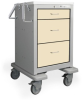 3 Drawer Junior Short Steel Bedside/Slim Cart -- JSGKU-399-NTL - Image
